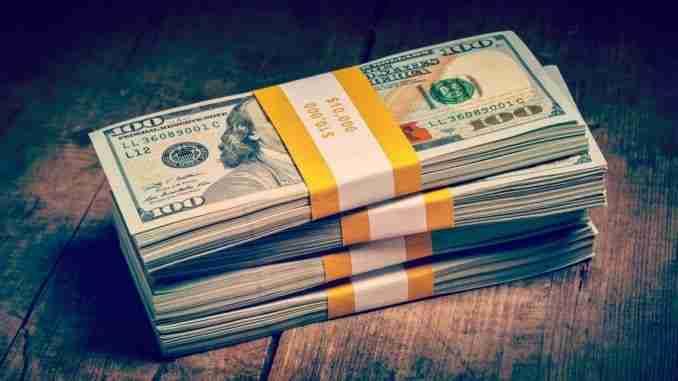 Creative business finance making money concept – Vintage retro e