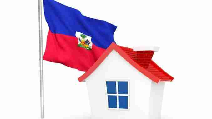 House With Flag Of Haiti