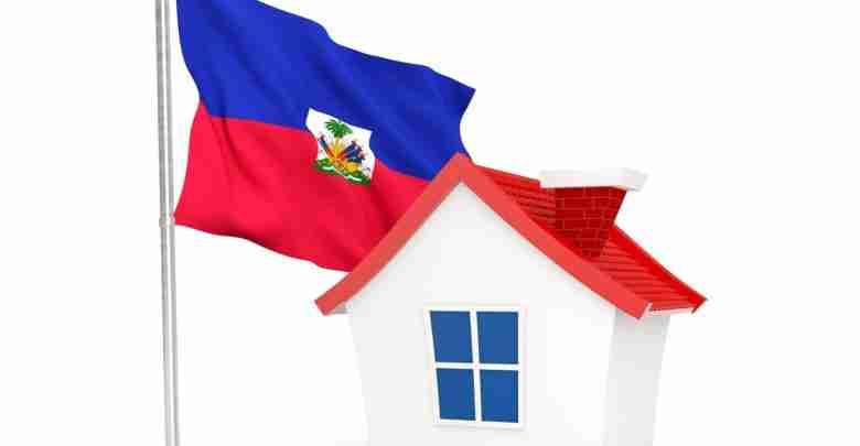 House With Flag Of Haiti