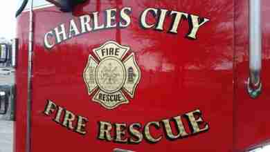 Photo of Charles City Fire Department put out basement fire