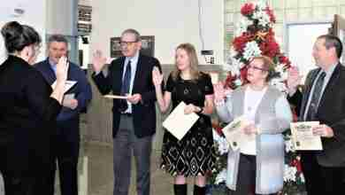 Photo of Floyd County elected officials sworn into office