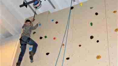 Photo of Climbing to new heights: Students design and construct climbing rock wall