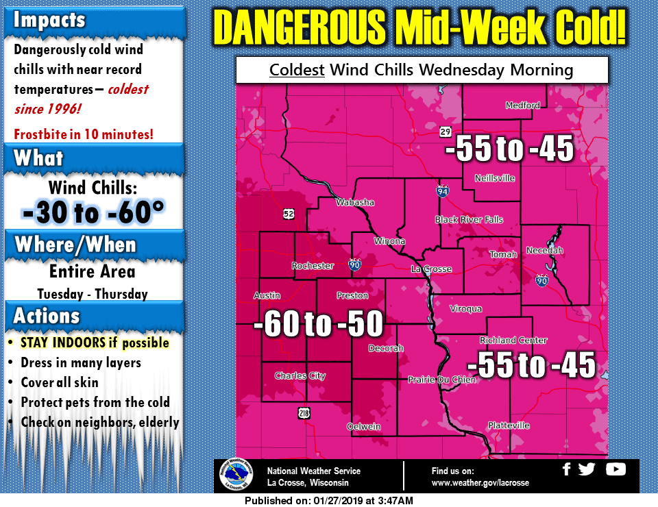 Record Setting Cold Air Coming For Iowa - Coldest Air For The State in 20+ Years. Prepare Now!