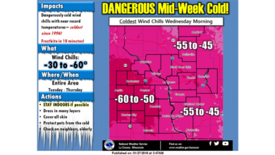 Photo of PREPARE NOW: A Potential Record Breaking, Life-Threatening Cold Snap Begins Monday