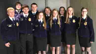 Photo of New Hampton, Turkey Valley FFA members compete at state leadership conference