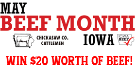 May is Beef Month - Win $20 worth of Iowa Beef