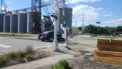 Photo of Charles City North Grand railroad crossing face lift
