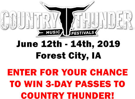 Enter To Win 3-Day Passes  To Country Thunder