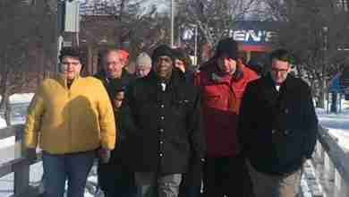 Photo of Charles City locals attend march and service for MLK Day