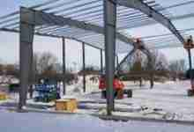 Photo of Riceville's 'Wildcat Activity Center' making huge winter construction progress