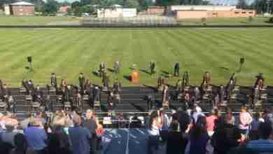 Photo of Charles City schools hold 2020 commencement on Comet Field