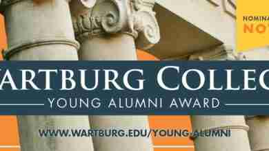 Photo of Former Comet wins 2020 'Young Alumni Award' from Wartburg College